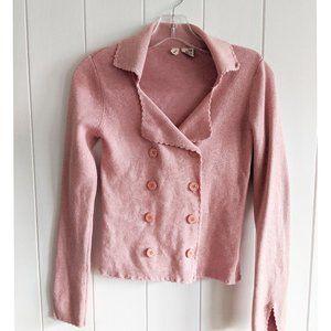 Anthropologie Moth Sweater Cardigan Wool Pink S